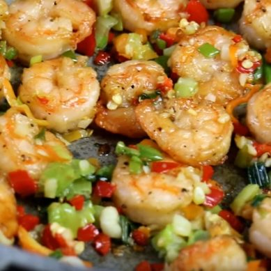 Tasty Pepper Shrimp with CaribbeanPot